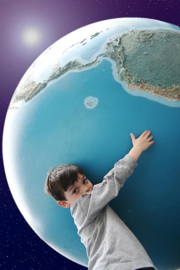Umweltschutz-Erde-Kind